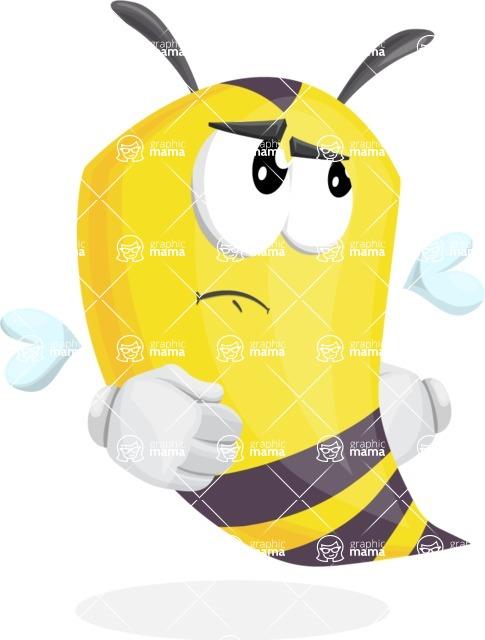 Bee Cartoon Vector Character AKA Mr. Bee Busy - Roll Eyes