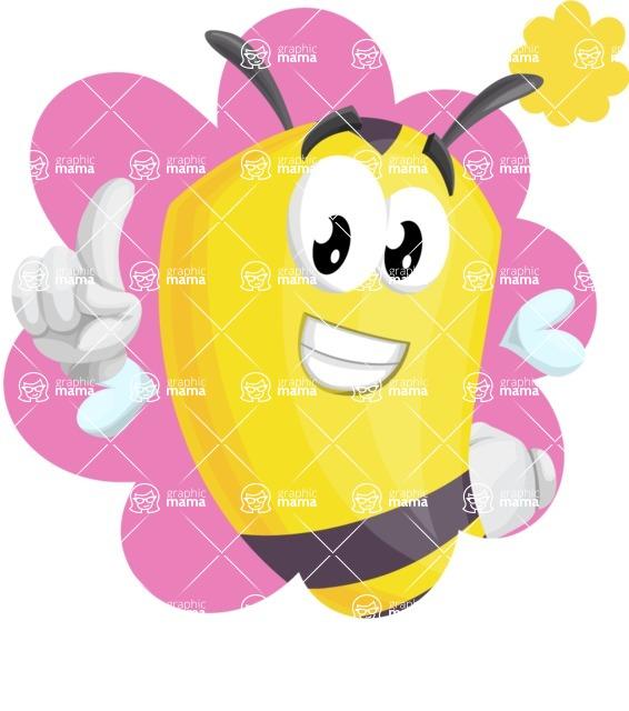 Bee Cartoon Vector Character AKA Mr. Bee Busy - Shape 1