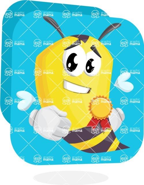 Bee Cartoon Vector Character AKA Mr. Bee Busy - Shape 11