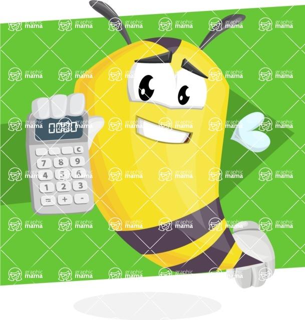 Bee Cartoon Vector Character AKA Mr. Bee Busy - Shape 12