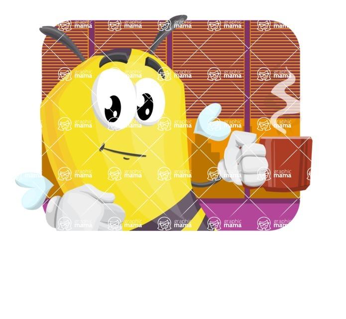 Bee Cartoon Vector Character AKA Mr. Bee Busy - Shape 2