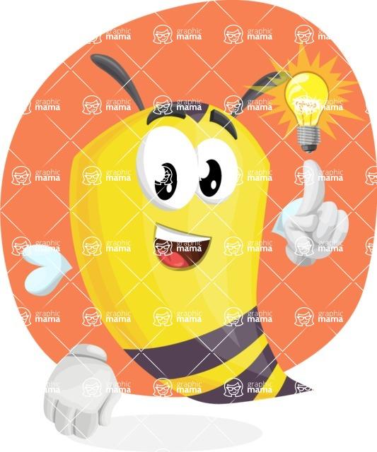 Bee Cartoon Vector Character AKA Mr. Bee Busy - Shape 7