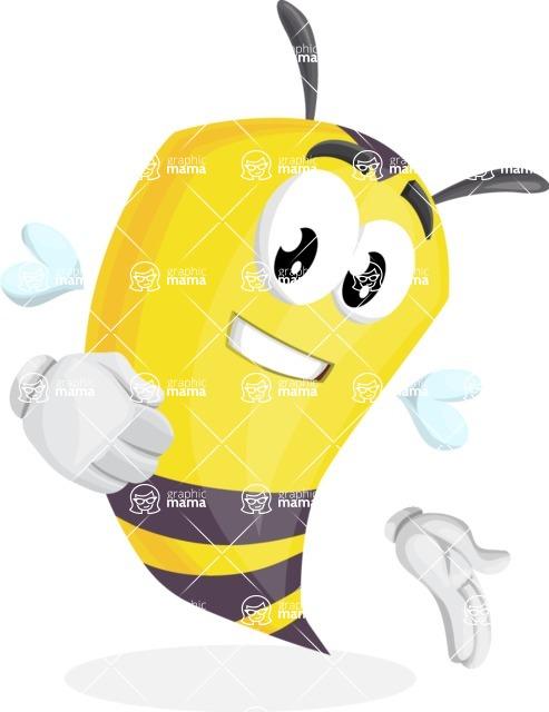 Bee Cartoon Vector Character AKA Mr. Bee Busy - Show2