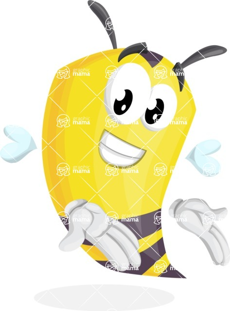 Bee Cartoon Vector Character AKA Mr. Bee Busy - Showcase