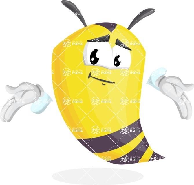 Bee Cartoon Vector Character AKA Mr. Bee Busy - Sorry