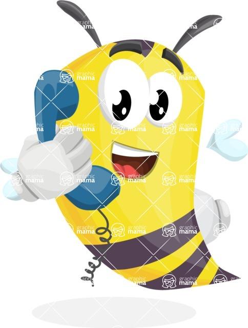 Bee Cartoon Vector Character AKA Mr. Bee Busy - Support