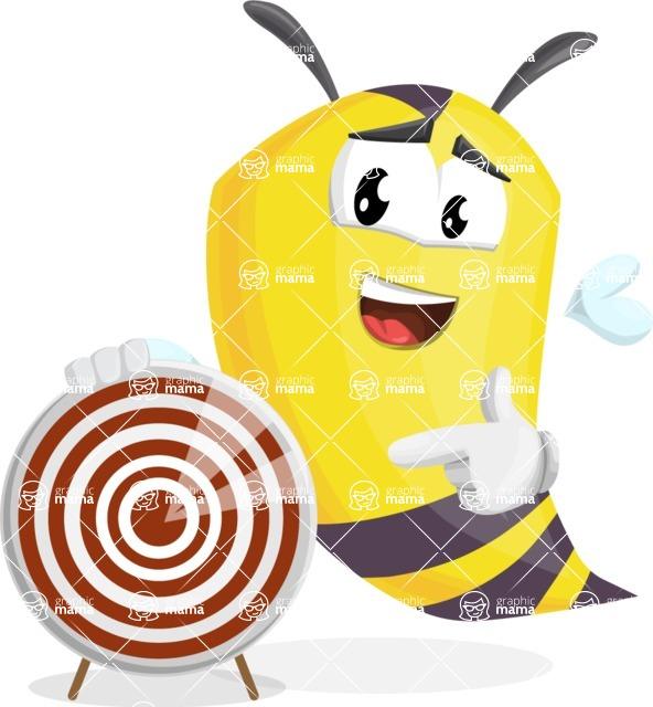 Bee Cartoon Vector Character AKA Mr. Bee Busy - Target