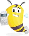 Bee Cartoon Vector Character AKA Mr. Bee Busy - Calculator
