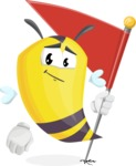 Bee Cartoon Vector Character AKA Mr. Bee Busy - Checkpoint