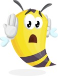 Bee Cartoon Vector Character AKA Mr. Bee Busy - Confused