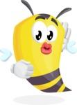 Bee Cartoon Vector Character AKA Mr. Bee Busy - Duckface