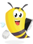 Bee Cartoon Vector Character AKA Mr. Bee Busy - iPad3