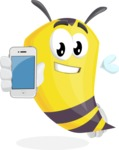 Bee Cartoon Vector Character AKA Mr. Bee Busy - iPhone