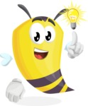 Bee Cartoon Vector Character AKA Mr. Bee Busy - Light Switch