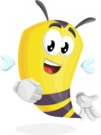 Bee Cartoon Vector Character AKA Mr. Bee Busy - Normal
