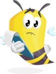 Bee Cartoon Vector Character AKA Mr. Bee Busy - Notepad 3