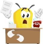 Bee Cartoon Vector Character AKA Mr. Bee Busy - Office Fever