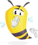 Bee Cartoon Vector Character AKA Mr. Bee Busy - Oops