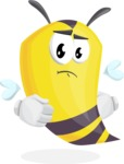 Bee Cartoon Vector Character AKA Mr. Bee Busy - Patient
