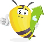 Bee Cartoon Vector Character AKA Mr. Bee Busy - Pointer 1