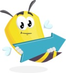 Bee Cartoon Vector Character AKA Mr. Bee Busy - Pointer 2