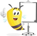 Bee Cartoon Vector Character AKA Mr. Bee Busy - Presentation 1