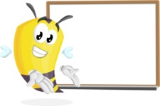 Bee Cartoon Vector Character AKA Mr. Bee Busy - Presentation 3