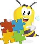 Bee Cartoon Vector Character AKA Mr. Bee Busy - Puzzle