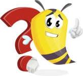 Bee Cartoon Vector Character AKA Mr. Bee Busy - Question