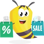 Bee Cartoon Vector Character AKA Mr. Bee Busy - Sale2
