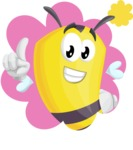 Bee Cartoon Vector Character AKA Mr. Bee Busy - Shape 1