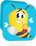 Bee Cartoon Vector Character AKA Mr. Bee Busy - Shape 11