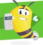 Bee Cartoon Vector Character AKA Mr. Bee Busy - Shape 12
