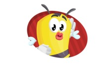 Bee Cartoon Vector Character AKA Mr. Bee Busy - Shape 4