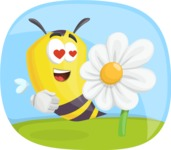 Bee Cartoon Vector Character AKA Mr. Bee Busy - Shape 5