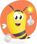 Bee Cartoon Vector Character AKA Mr. Bee Busy - Shape 7
