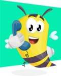 Bee Cartoon Vector Character AKA Mr. Bee Busy - Shape 8