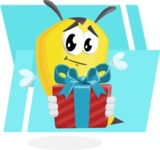 Bee Cartoon Vector Character AKA Mr. Bee Busy - Shape 9