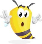 Bee Cartoon Vector Character AKA Mr. Bee Busy - Shocked