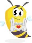 Bee Cartoon Vector Character AKA Mr. Bee Busy - Show Love