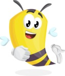 Bee Cartoon Vector Character AKA Mr. Bee Busy - Show