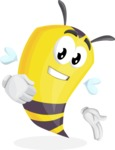 Bee Cartoon Vector Character AKA Mr. Bee Busy - Show2