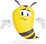 Bee Cartoon Vector Character AKA Mr. Bee Busy - Sorry