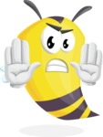 Bee Cartoon Vector Character AKA Mr. Bee Busy - Stop 2