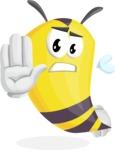 Bee Cartoon Vector Character AKA Mr. Bee Busy - Stop
