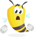 Bee Cartoon Vector Character AKA Mr. Bee Busy - Stunned