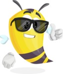 Bee Cartoon Vector Character AKA Mr. Bee Busy - Sunglasses