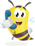 Bee Cartoon Vector Character AKA Mr. Bee Busy - Support