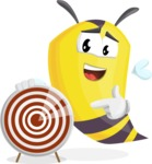 Bee Cartoon Vector Character AKA Mr. Bee Busy - Target