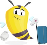 Bee Cartoon Vector Character AKA Mr. Bee Busy - Travel 1